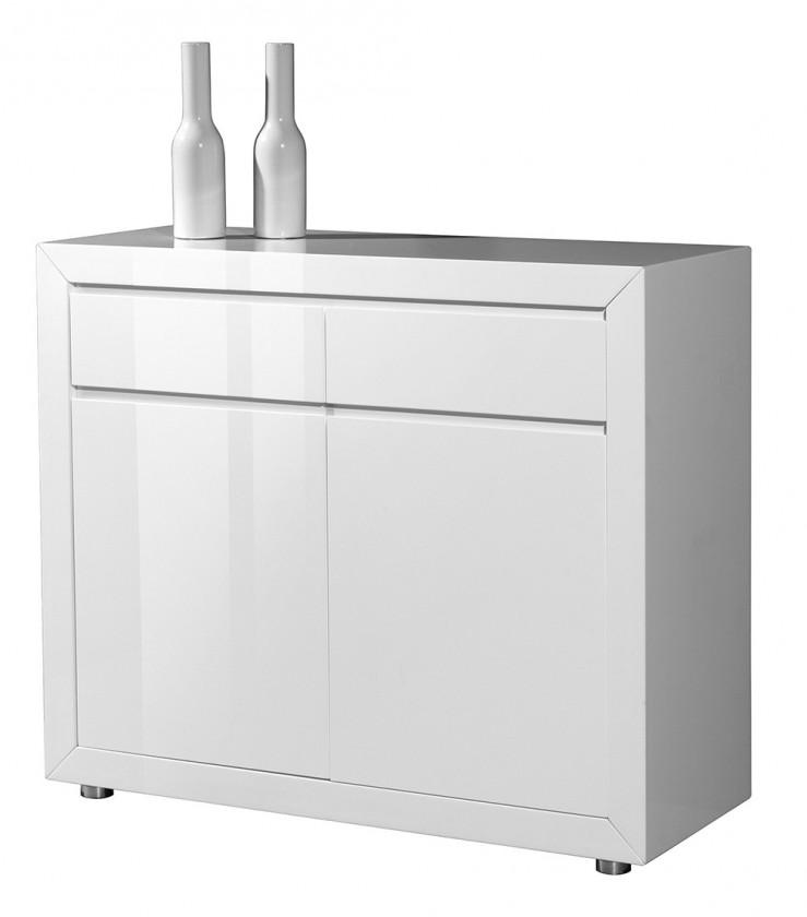 Komoda GW-Fino - Skříňka,2x dveře,2x šuplík (bílá)