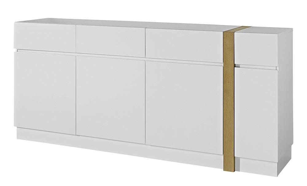 Komoda GW-Loft - Skříňka,4x dveře,3x šuplík (bílá)