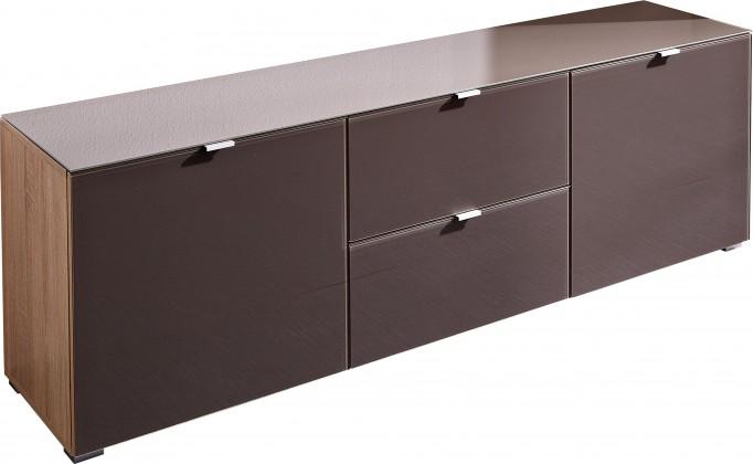Komoda GW-Perla-skříň,2xdveře,2xšuplík (dub sonoma-korpus/grafit-front)