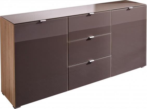 Komoda GW-Perla-skříňka,2xdveře (dub sonoma-korpus/grafit-front)