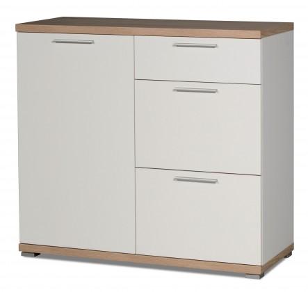 Komoda gw-top - skříňka, 1x dveře (bílá / dub sonoma)