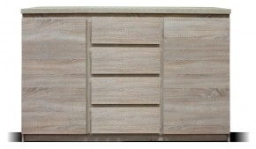 Komoda Lozano (2x dveře, 4x zásuvka, sonoma)
