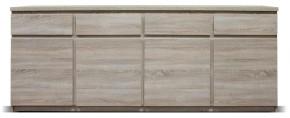Komoda Lozano (4x dveře, 4x zásuvka, sonoma)