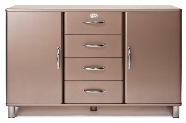 Komoda Malibu - Komoda (bronzová, 2x dveře, 4x zásuvka)