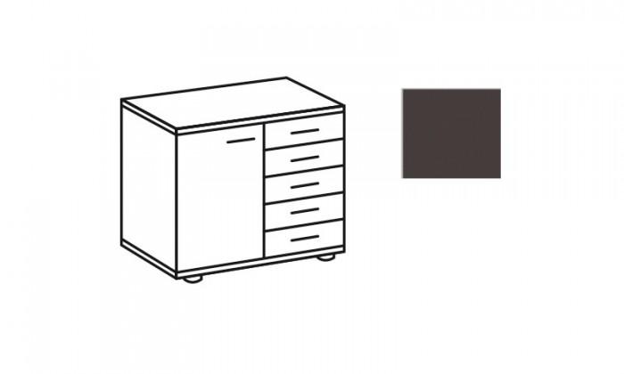 Komoda Match Up - Komoda, 1x dveře, 5x zásuvka