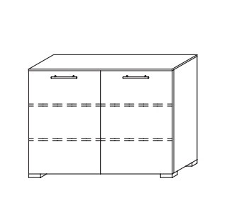 Komoda Nala AS806.62G3 (černá/černé sklo)