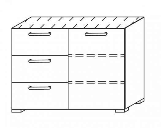 Komoda Onella - Komoda, 1x dveře, 3x zásuvka
