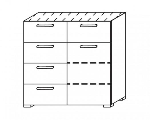 Komoda Onella - Komoda, 1x dveře, 5x zásuvka