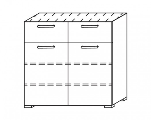 Komoda Onella - Komoda, 2x dveře, 2x zásuvka