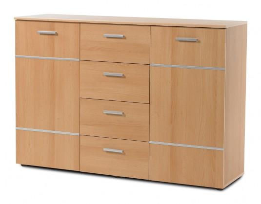 Komoda Panteras - Komoda, 2x dveře, 4x zásuvka (buk)