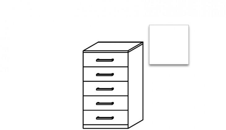 Komoda Quadra - komoda, 5x zásuvka