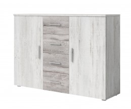 Komoda Vera - kombi, 2x dveře + 4x zásuvka, pinie
