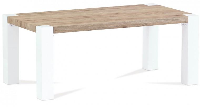 Konfereční stolek - dřevěný AC 102 (dub san remo/bílá vysoký lesk)