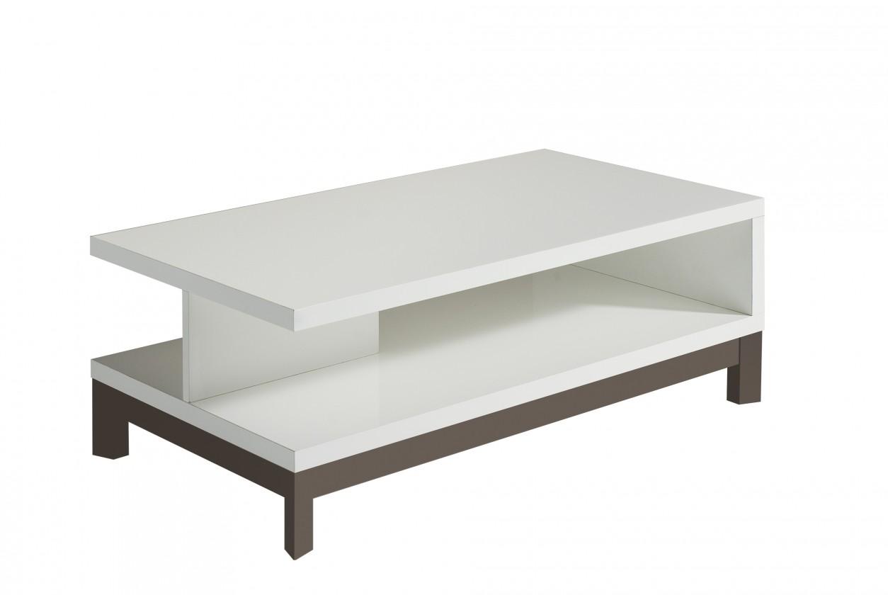 Konfereční stolek - dřevěný Almera - Konferenční stolek (bílá/šedá)