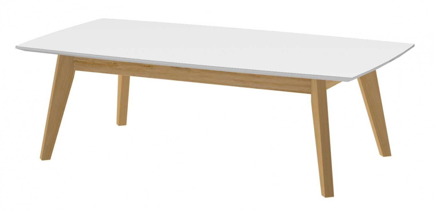 Konfereční stolek - dřevěný BESS 2189-001(bílá/dub)