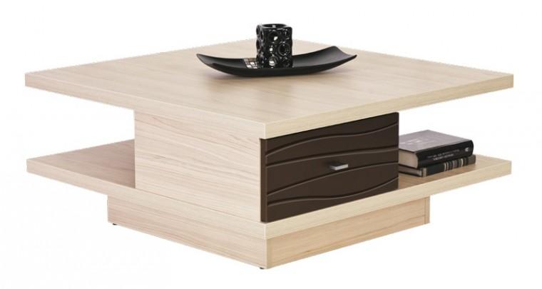Konfereční stolek - dřevěný Clever  CV-1 (Thuje/Bronz metallic)