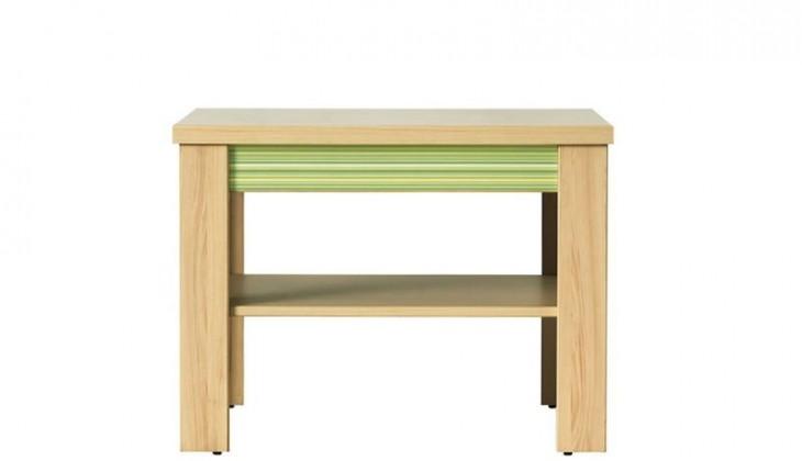 Konfereční stolek - dřevěný Codi CD 1 (višeň cornvall/zelená)
