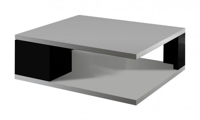 Konfereční stolek - dřevěný Diva - Konferenční stolek s dvířky (bílá/černá)