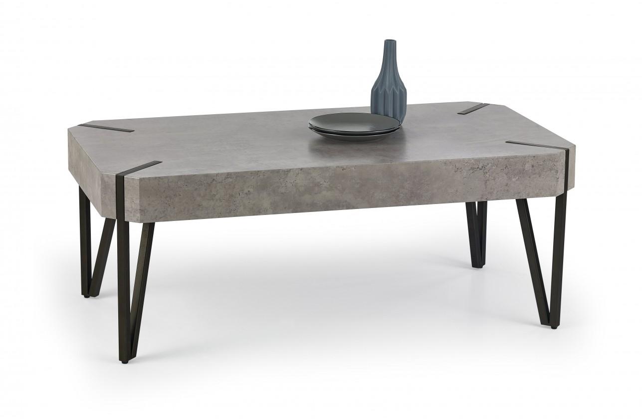 Konfereční stolek - dřevěný Emily - konferenční stolek beton, černý (beton/černá)
