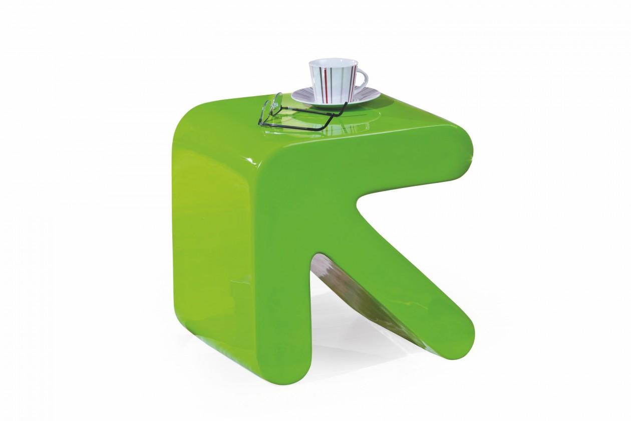 Konfereční stolek - dřevěný Erati - Konferenční stolek (zelená)