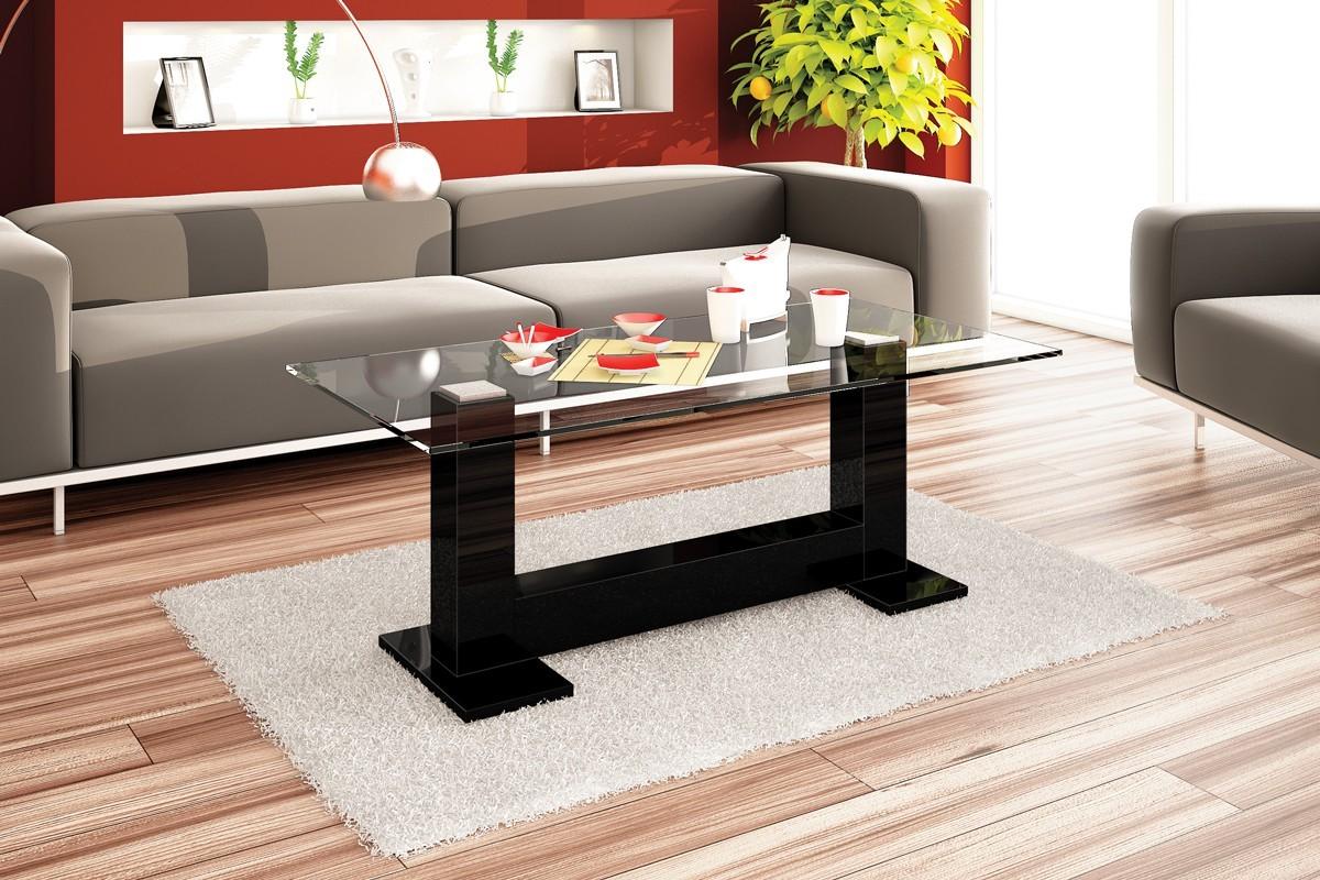 Konfereční stolek - dřevěný Eter (černá lesk)