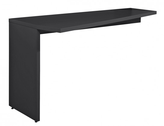 Konfereční stolek - dřevěný Gamble - Psací stůl k regálu levý 570141L (antracit)