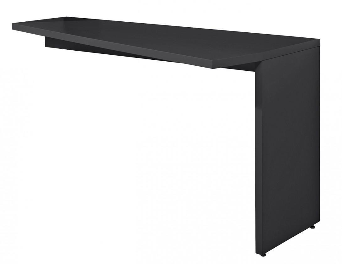 Konfereční stolek - dřevěný Gamble - Psací stůl k regálu pravý, 570141R (antracit)