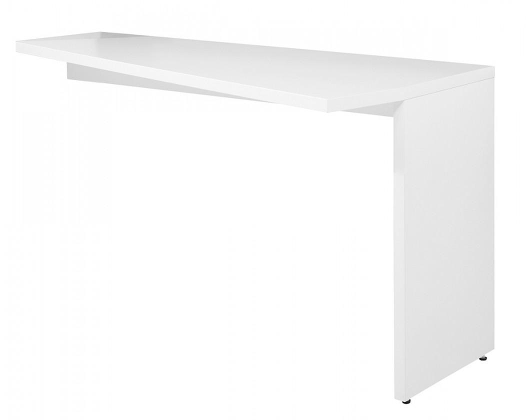 Konfereční stolek - dřevěný Gamble - Psací stůl k regálu pravý, 570741R (bílá)