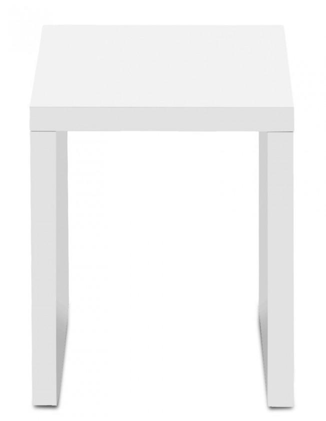 Konfereční stolek - dřevěný Game - konferenční stolek, 30 cm (bílá)