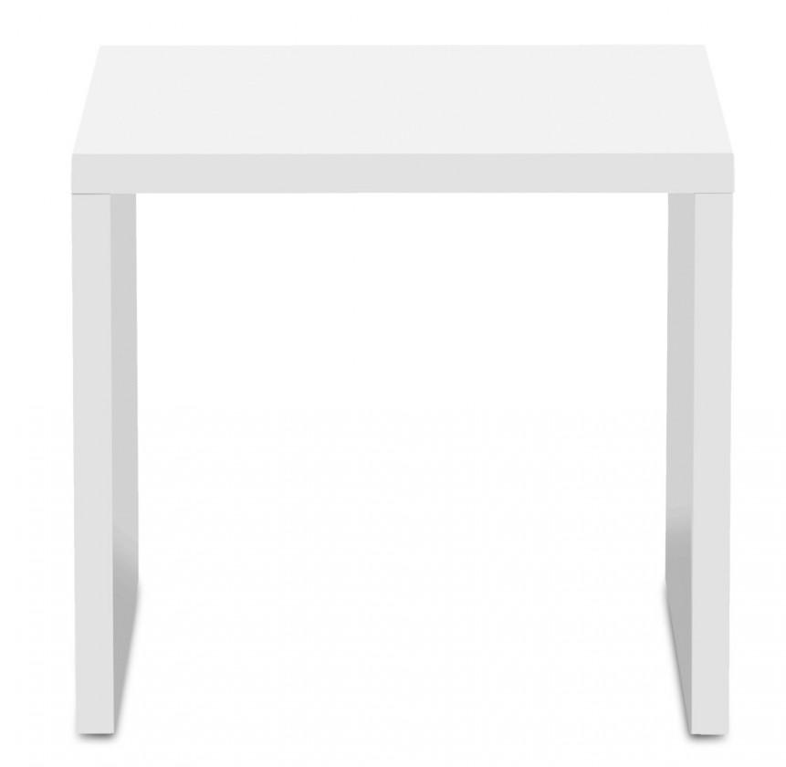 Konfereční stolek - dřevěný Game - konferenční stolek, 50 cm (bílá)