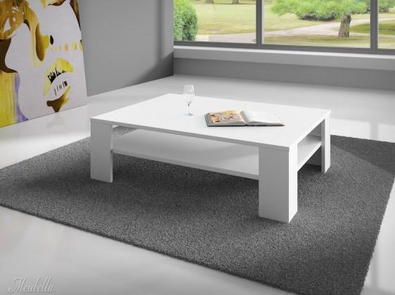Konfereční stolek - dřevěný Gulio - Konfereční stolek (bílý MDF)