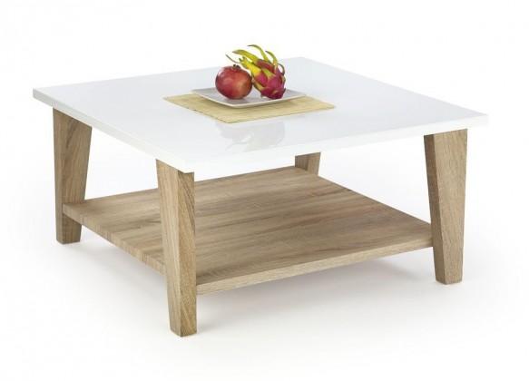 Konfereční stolek - dřevěný Kiana(bílá/ dub sonoma)