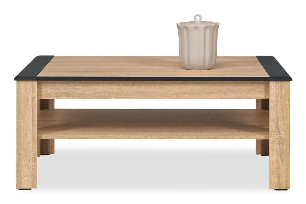 Konfereční stolek - dřevěný Konferenční stolek Anita - NA 11 (dub sonoma/bílá lesk, grafit)