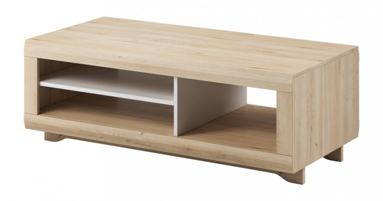 Konfereční stolek - dřevěný Konferenční stolek Avallon (buk ibsen/bílá)
