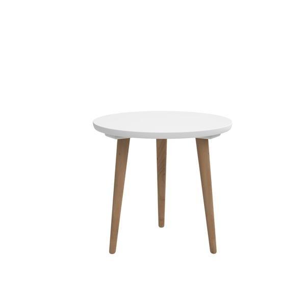 Konfereční stolek - dřevěný Konferenční stolek Bergen - střední (bílá deska/dub nohy)