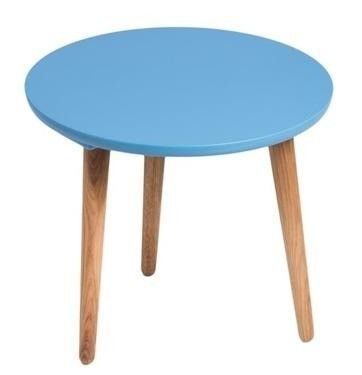 Konfereční stolek - dřevěný Konferenční stolek Bergen - střední (modrá deska/dub nohy)