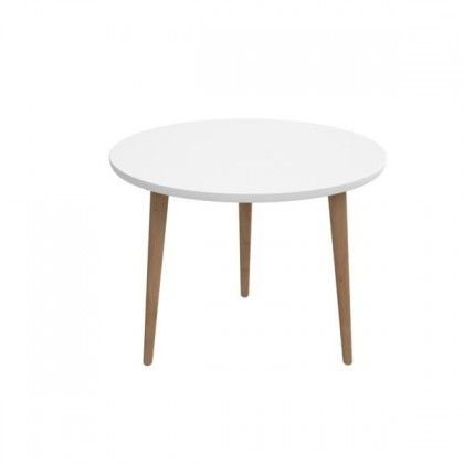 Konfereční stolek - dřevěný Konferenční stolek Bergen - velký (bílá deska/dub nohy)