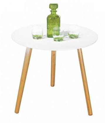 Konfereční stolek - dřevěný Konferenční stolek bílý Winter - dubové nohy (dub/bílá)
