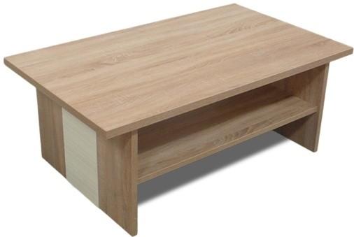 Konfereční stolek - dřevěný Konferenční stolek Bori (Dub bardolino/Vanilka)