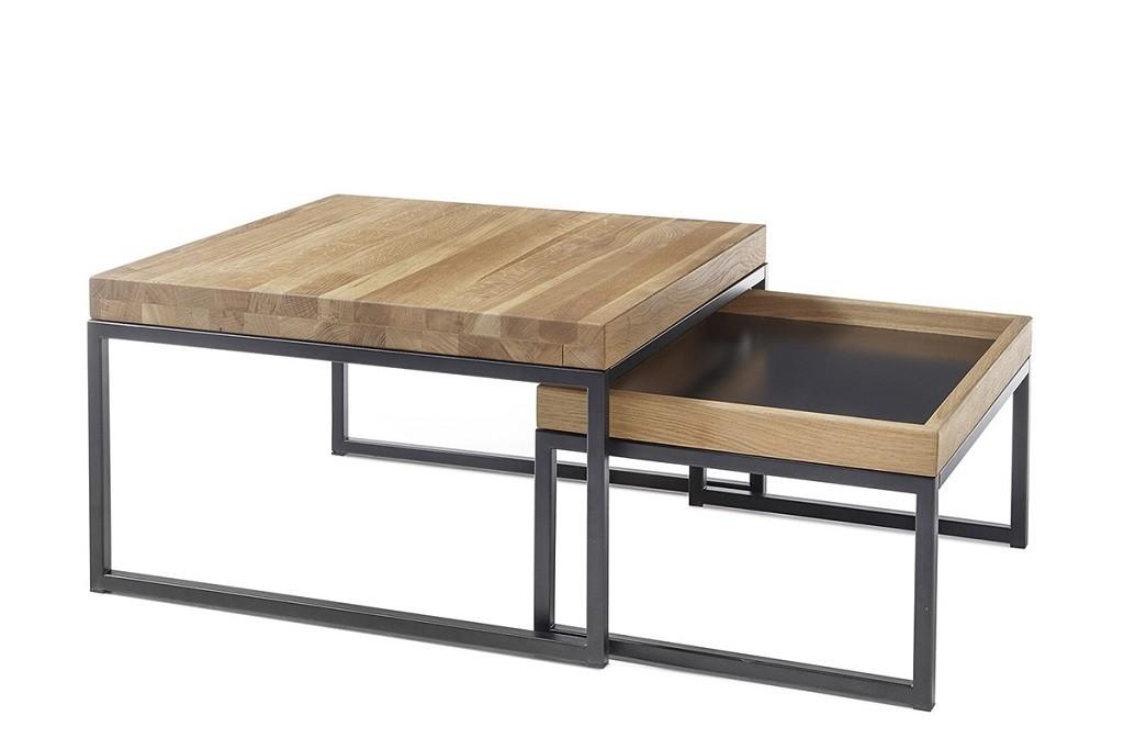 Konfereční stolek - dřevěný Konferenční stolek Dorset - set 2 kusů (hnědá)