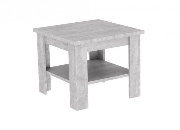 Konfereční stolek - dřevěný Konferenční stolek Gete - čtverec (beton jasný)