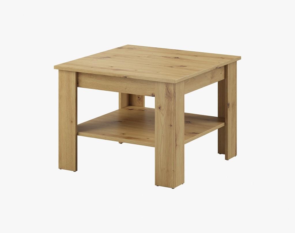 Konfereční stolek - dřevěný Konferenční stolek Gete - čtverec (dub artisan)