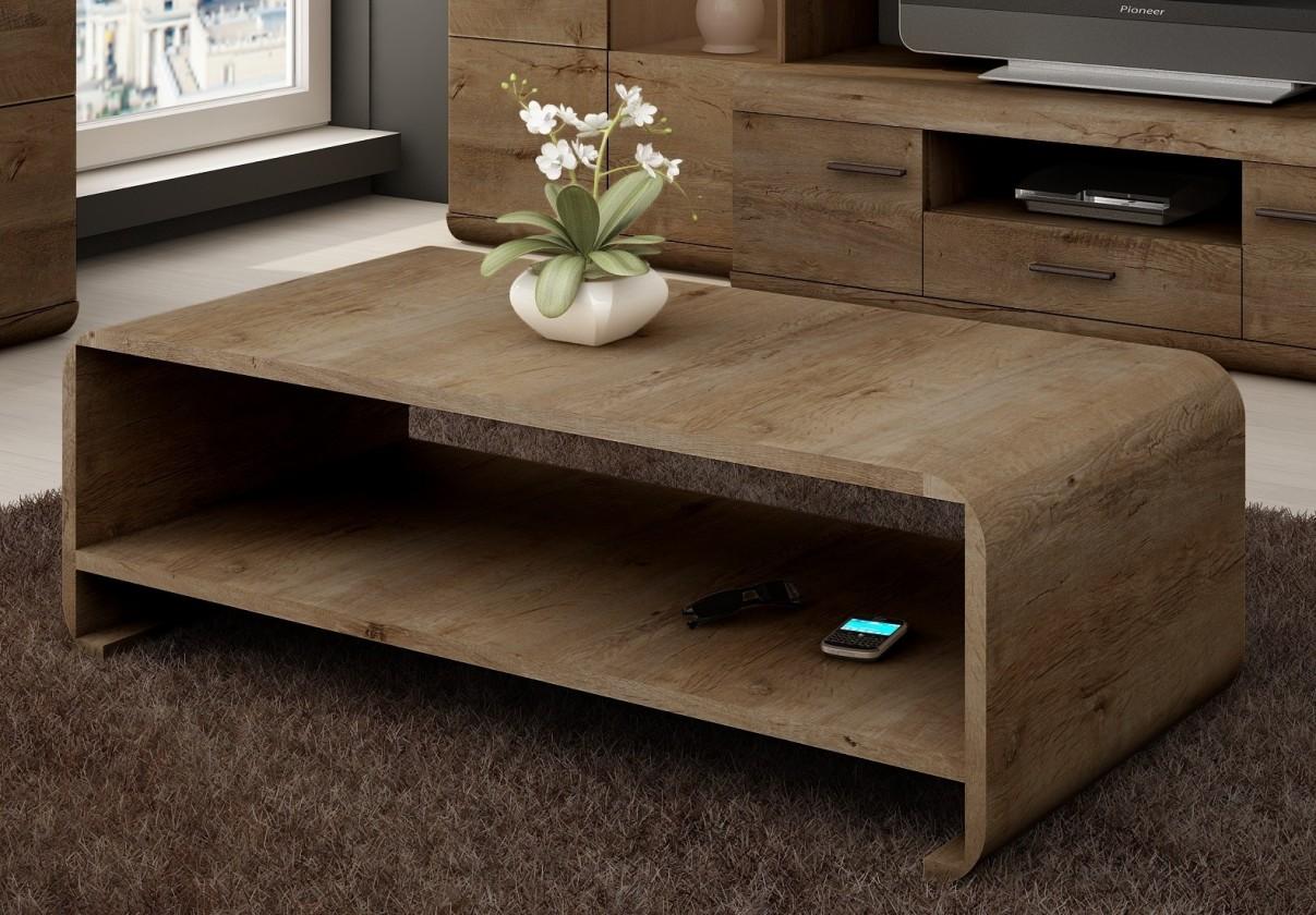 Konfereční stolek - dřevěný Konferenční stolek LenA (dub lefkas)
