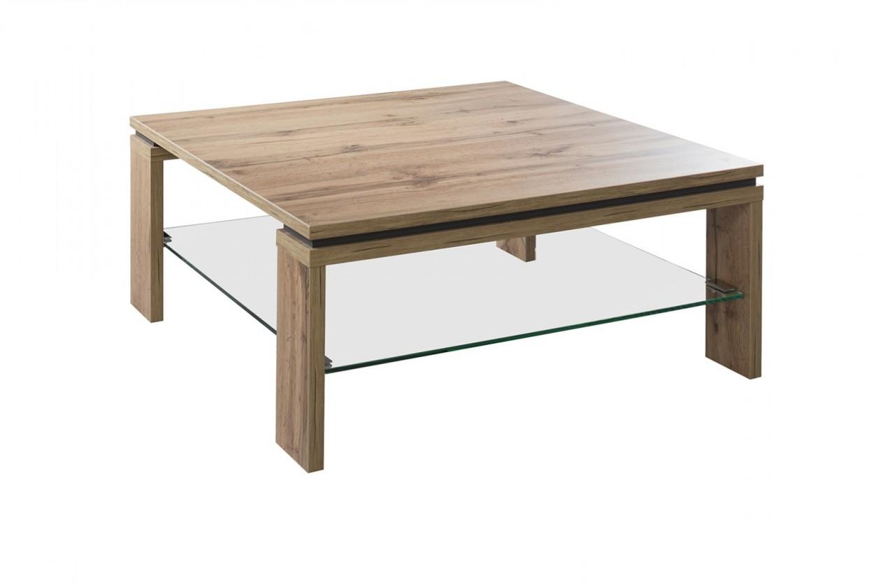 Konfereční stolek - dřevěný Konferenční stolek Lilly - čtvercový (dub wotan)