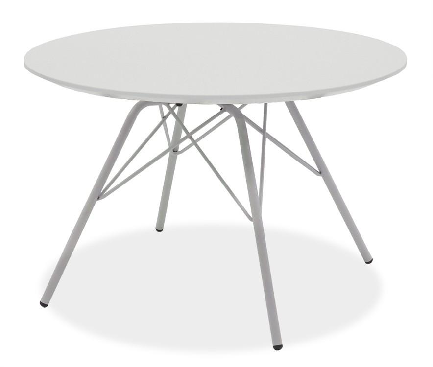 Konfereční stolek - dřevěný Konferenční stolek  LOLA 9306-001+PORGY 9316-091 (bílá/chrom)