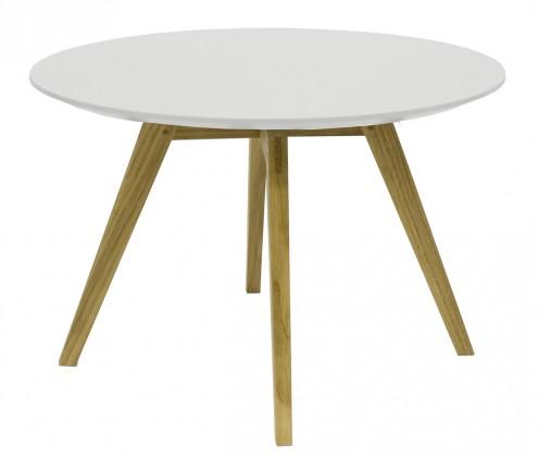 Konfereční stolek - dřevěný Konferenční stolek Lola Bess - bílá, dub (9317-054+9366-001)