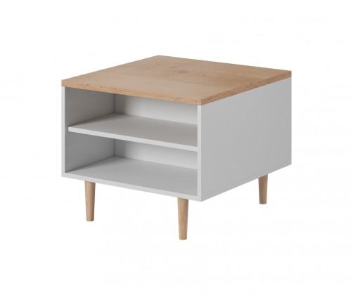 Konfereční stolek - dřevěný Konferenční stolek Loveli (buk pískový, bílá)