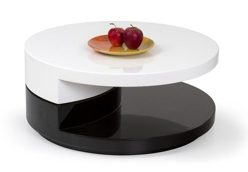 Konfereční stolek - dřevěný Konferenční stolek Madeleine (bílá/černá)