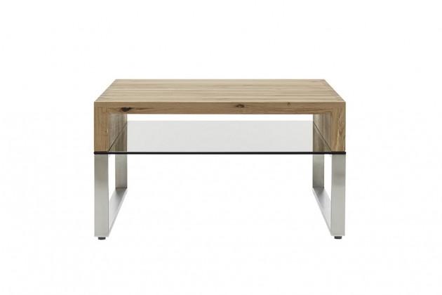 Konfereční stolek - dřevěný Konferenční stolek Maren - 70x39x70 (dub, hnědá)