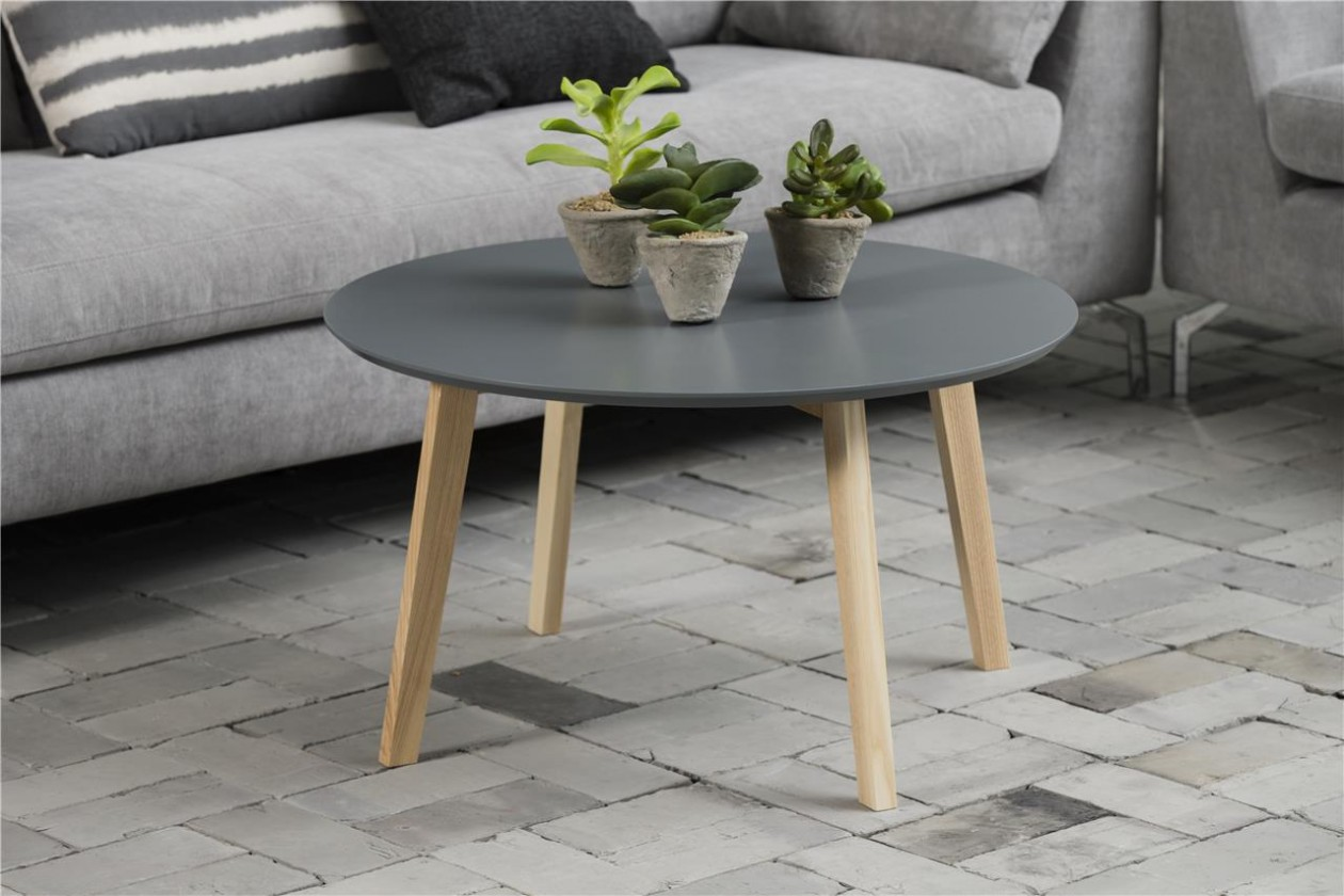 Konfereční stolek - dřevěný Konferenční stolek Molina (šedá deska/jasan nohy)